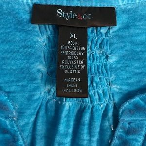 Style & Co Tops - Style & Co. by Macy's turquoise v-neck tunic
